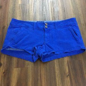 American Eagle royal blue short shorts